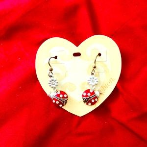 Brighton ladybug dangle earrings